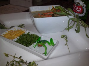 Waterzooi - served with parsley, herbs and julienne of lemon zest garnish