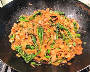 Pad See Ew - in the Wok, almost ready to serve