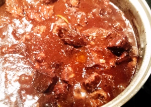 Peposo simmering in the pot