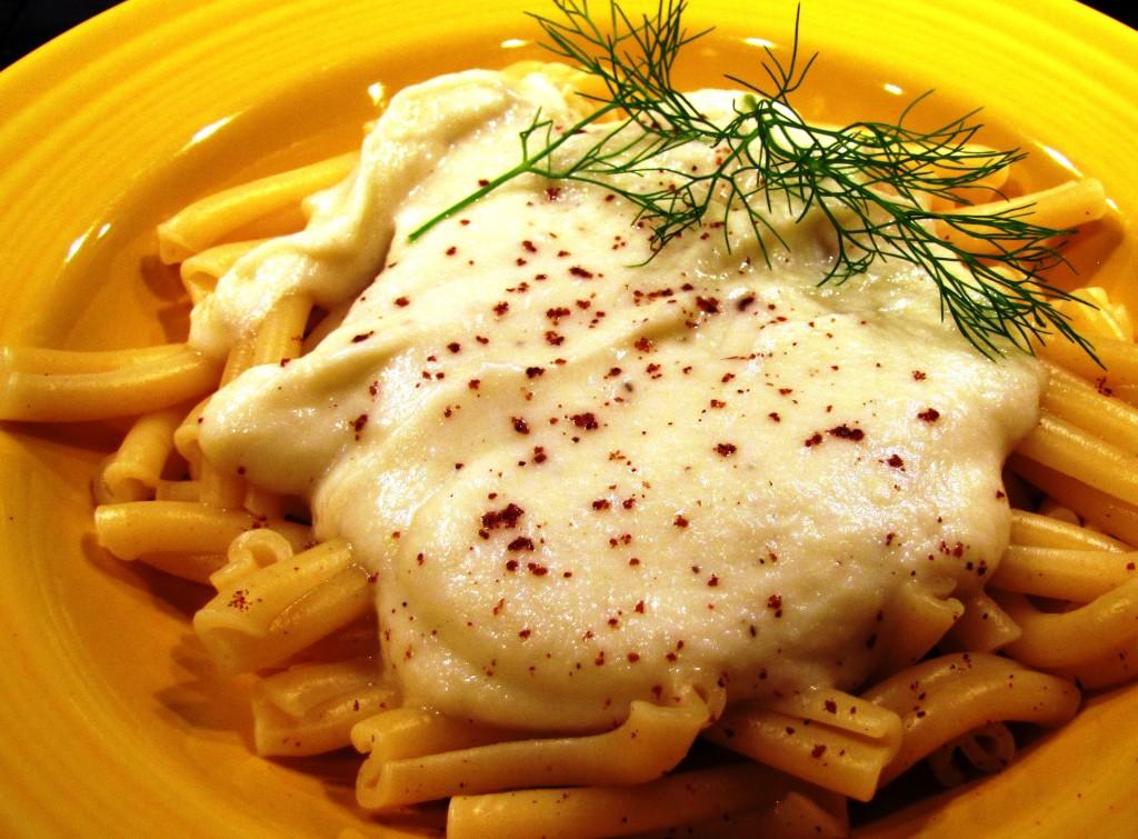 "Strozzapretti - ""prist strangler"" pasta - with Garlic Cauliflower Sauce"
